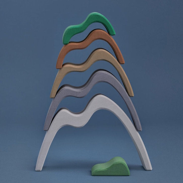 Raduga Grez wooden mountain stacker - coloured