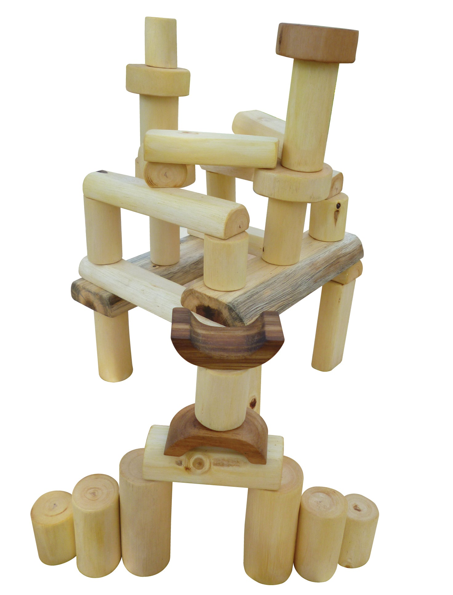 Qtoys natural backless tree blocks