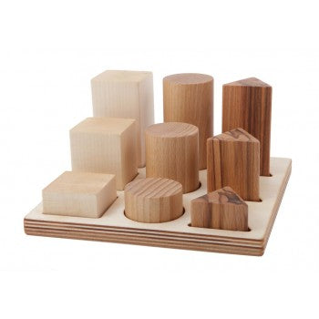 Wooden Story natural XL shape sorter board