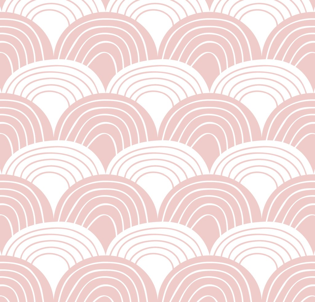 Swedish Linens Rainbows organic cotton sheet in Nudy Pink