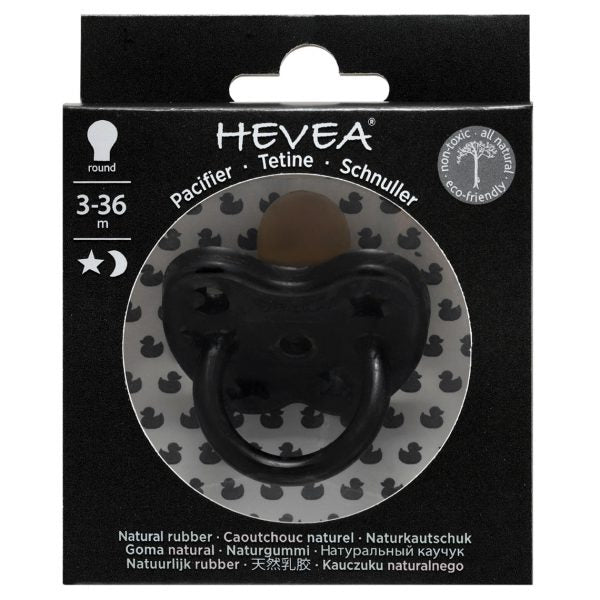 Hevea natural rubber pacifier round teat - Outer Space