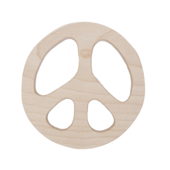 Wooden Story Peace Teether