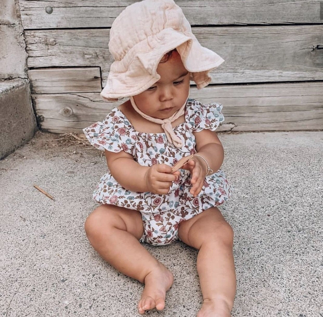 Oak Meadow Kids Peachy Cream Sun Hat