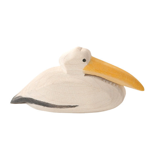 Ostheimer wooden bird - pelican swimming