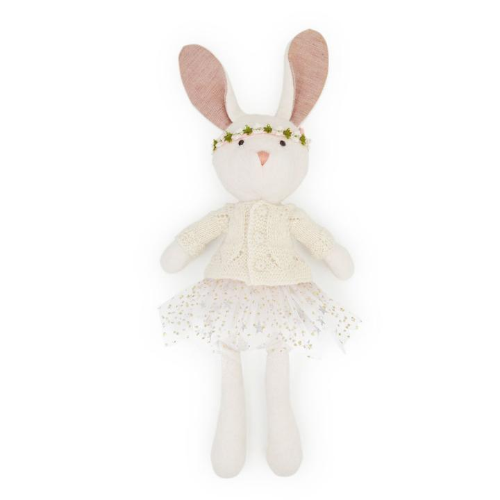 Hazel Village Penelope Rabbit in Sweater and Tutu Outfit