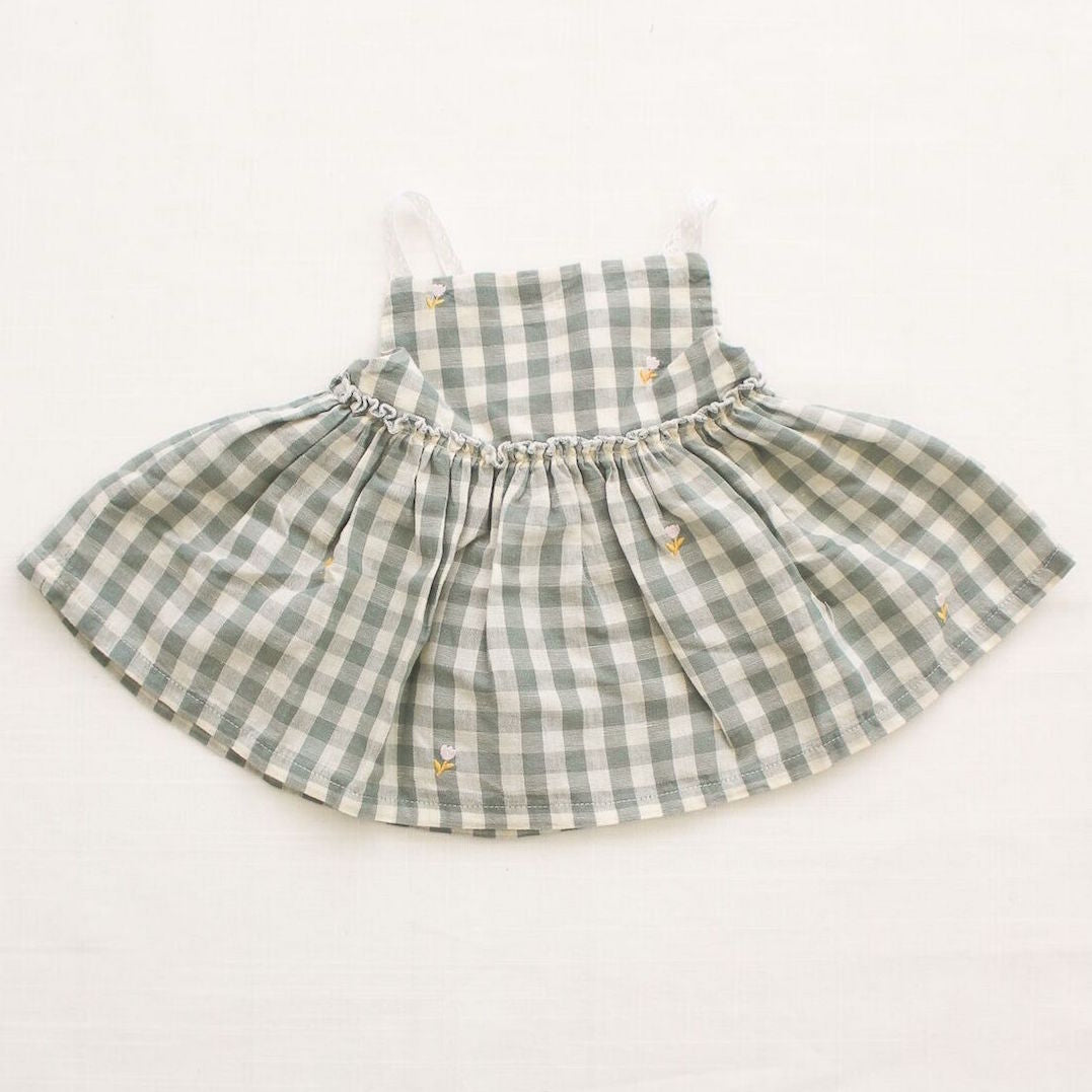 Fin and Vince Picnic Tunic - Pistachio Gingham - front