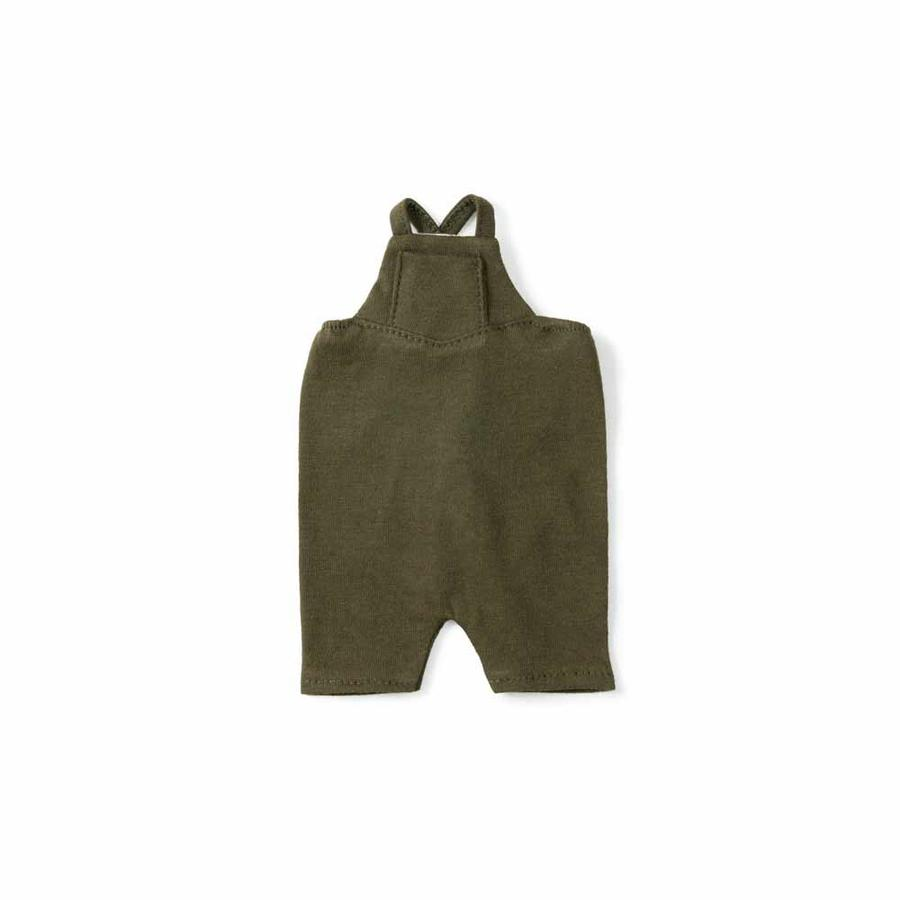 Hazel Village green organic cotton overalls for dolls and animals