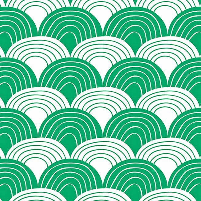 Swedish Linens Rainbows organic cotton sheet in pine green