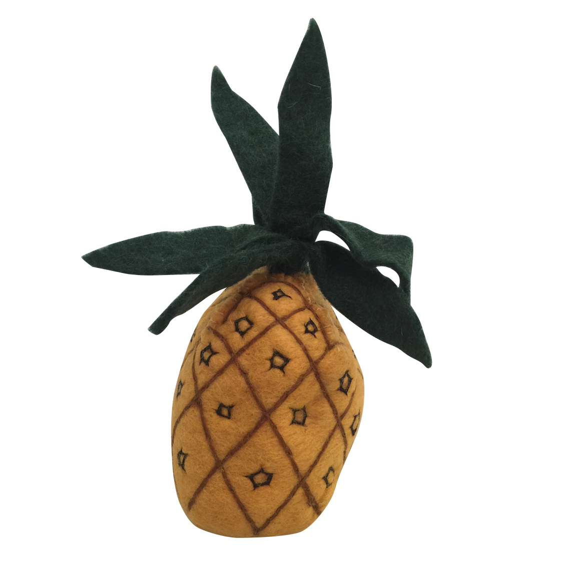 Papoose wool felt fruit - pineapple