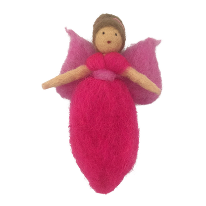 Papoose pure wool felt fairy - pink