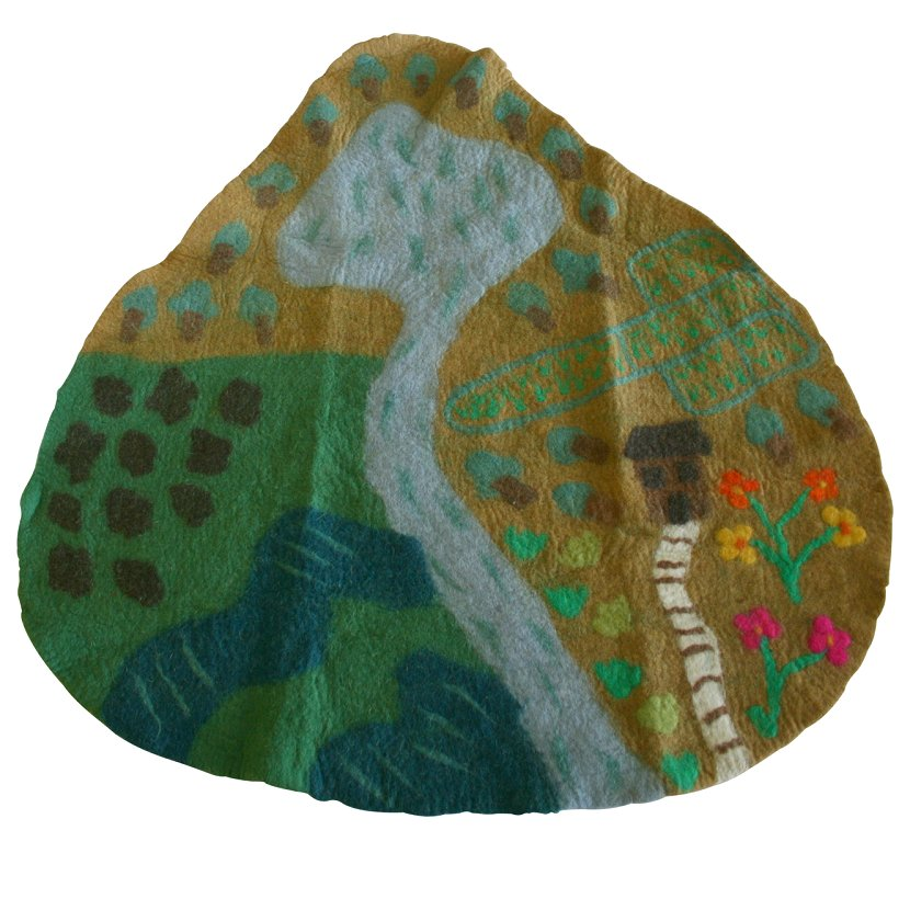 Papoose felt play mat - farm
