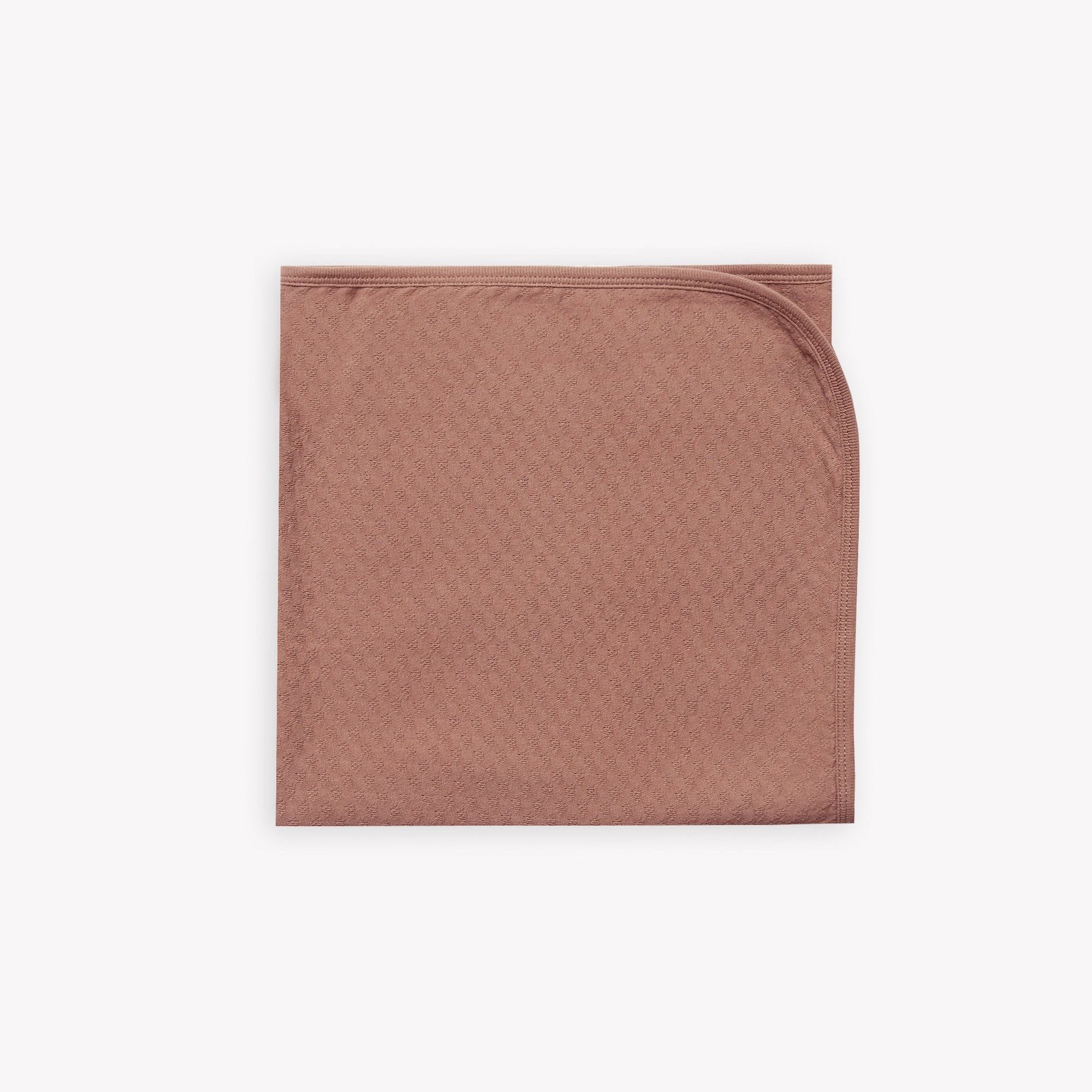 Quincy Mae organic cotton pointelle baby blanket - clay