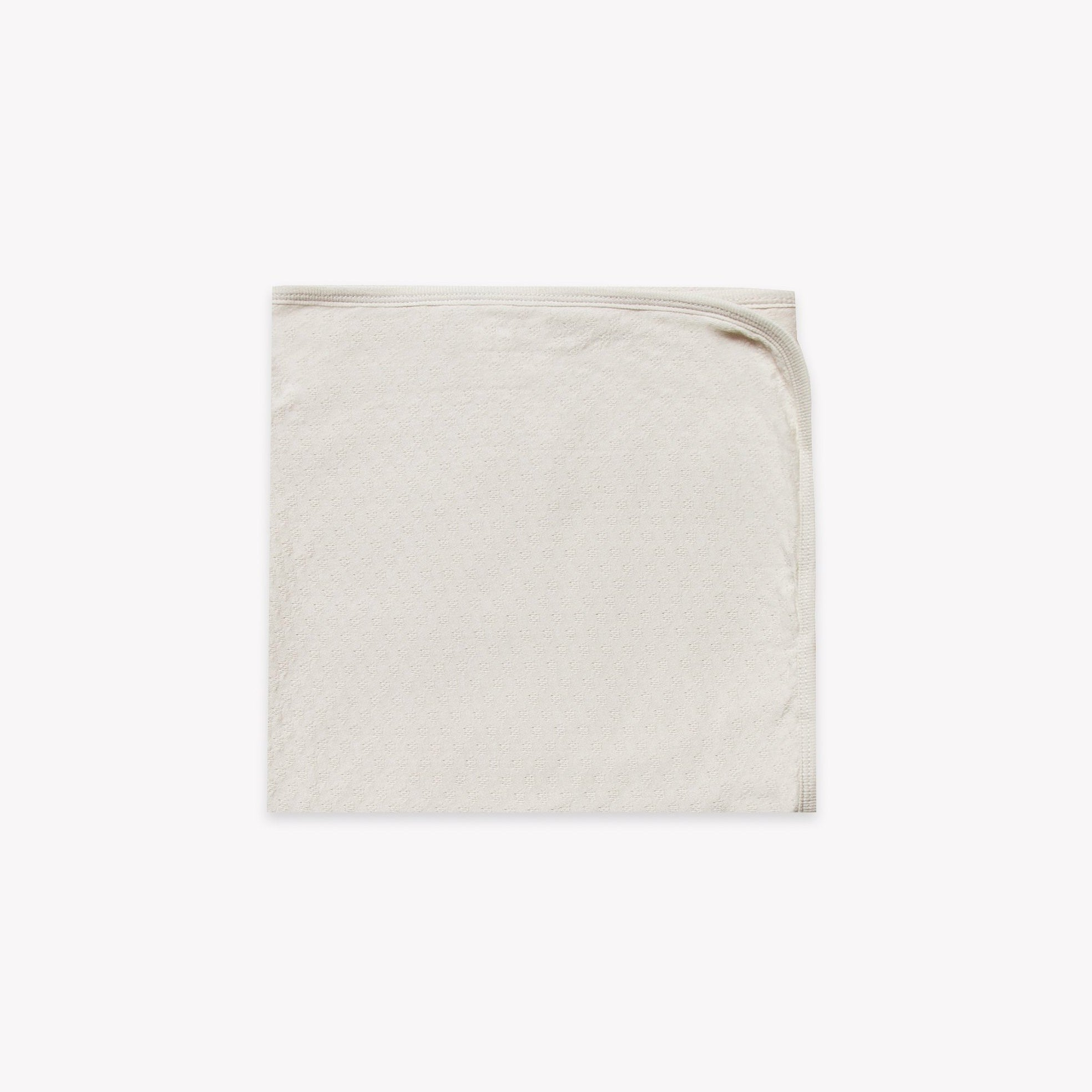 Quincy Mae organic cotton pointelle baby blanket - pebble
