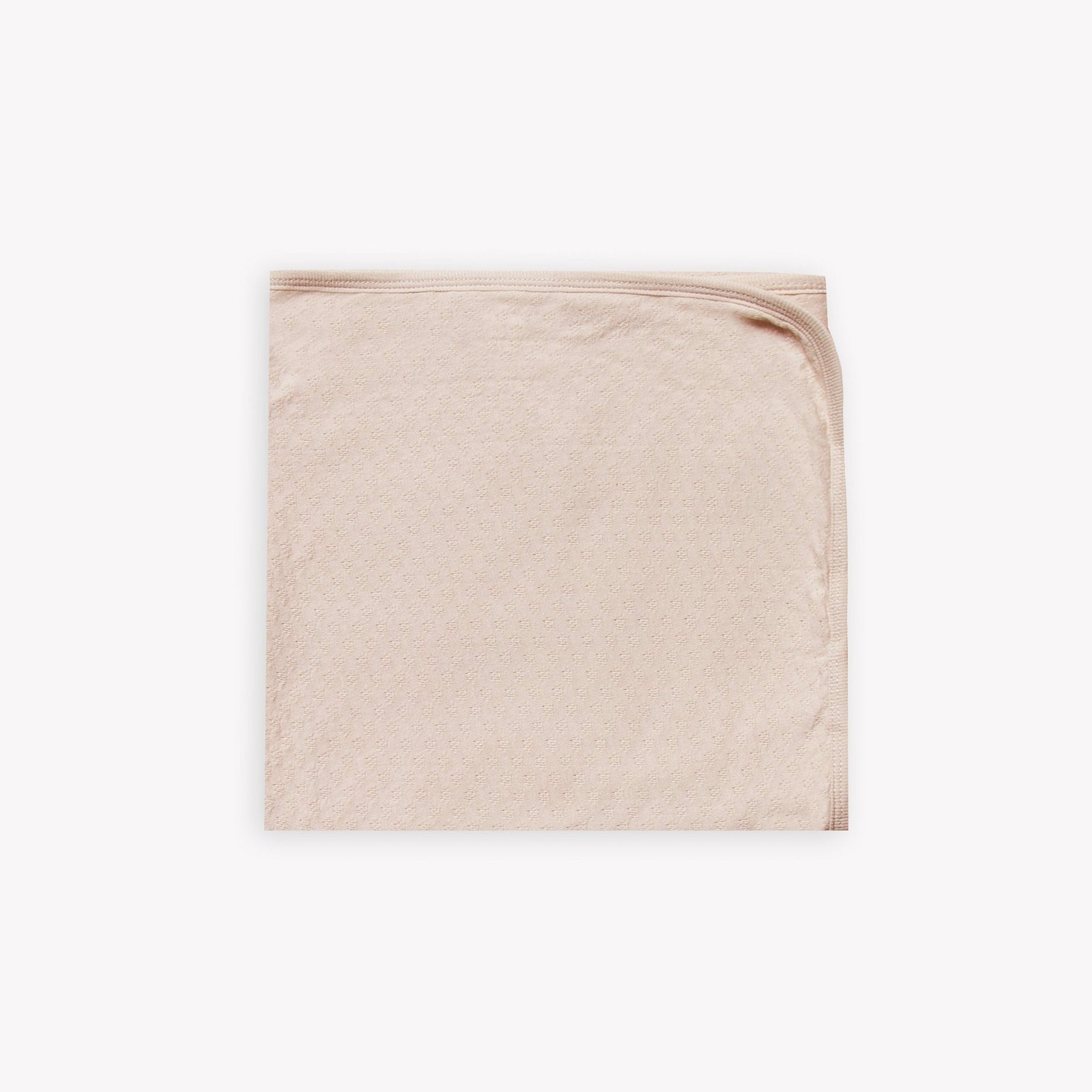 Quincy Mae organic cotton pointelle baby blanket - rose