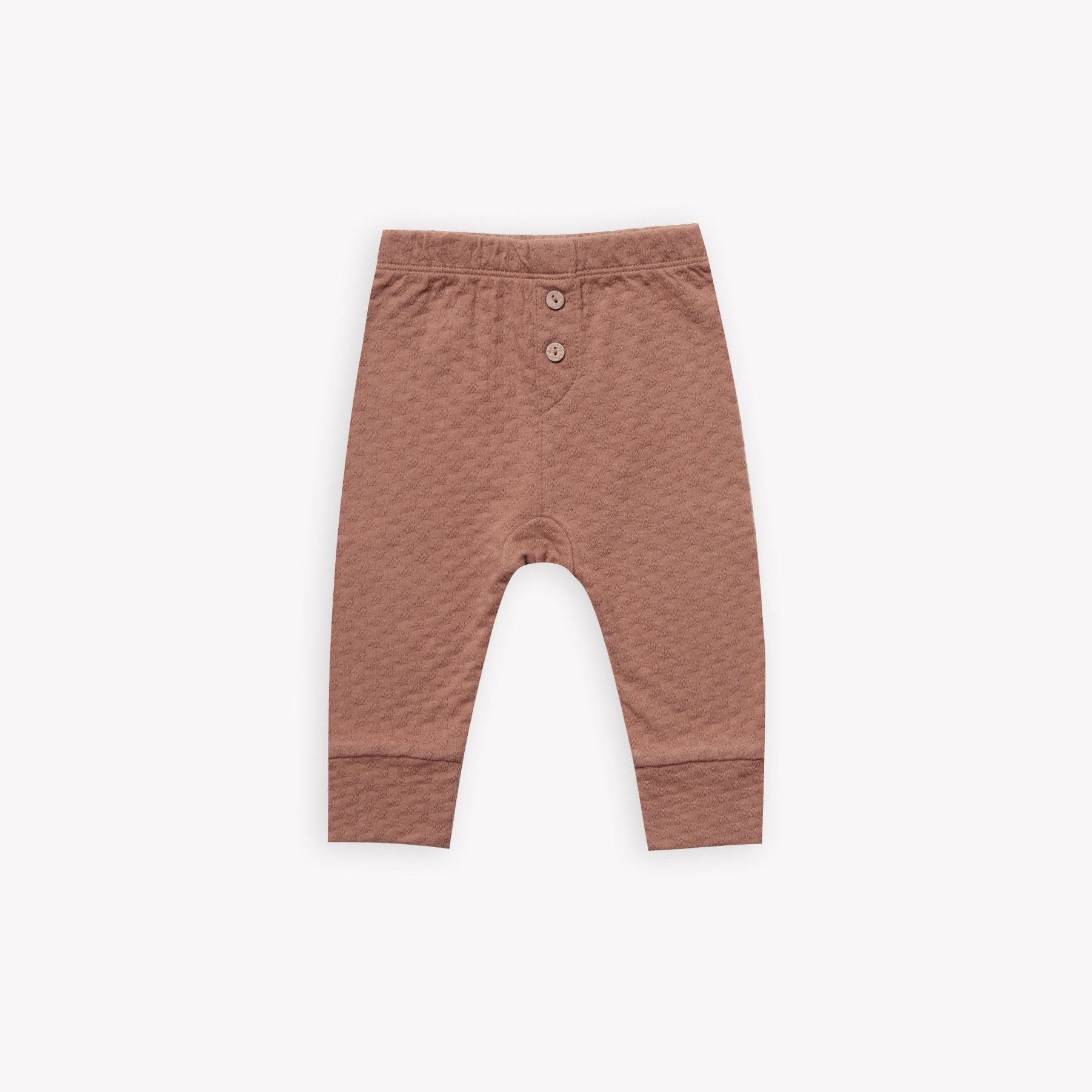 Quincy Mae organic pointelle legging clay