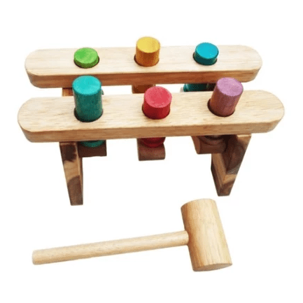 Qtoys Wooden Pound A Peg