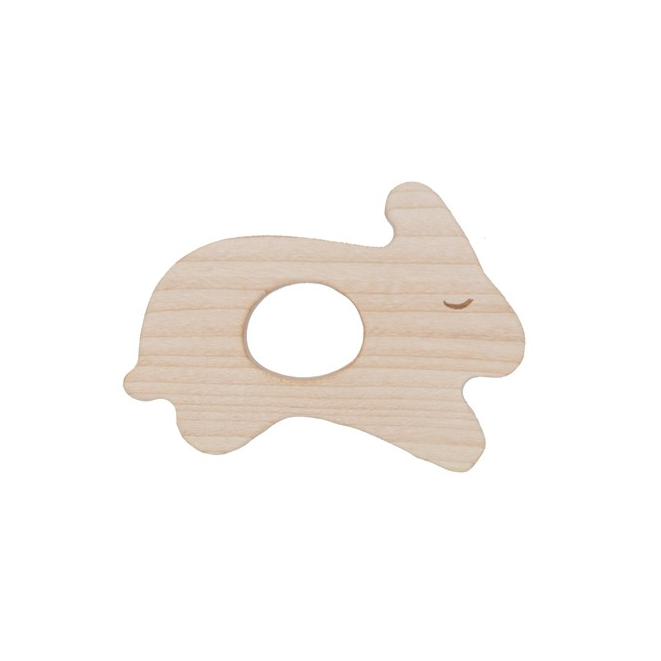 Wooden Story rabbit teether