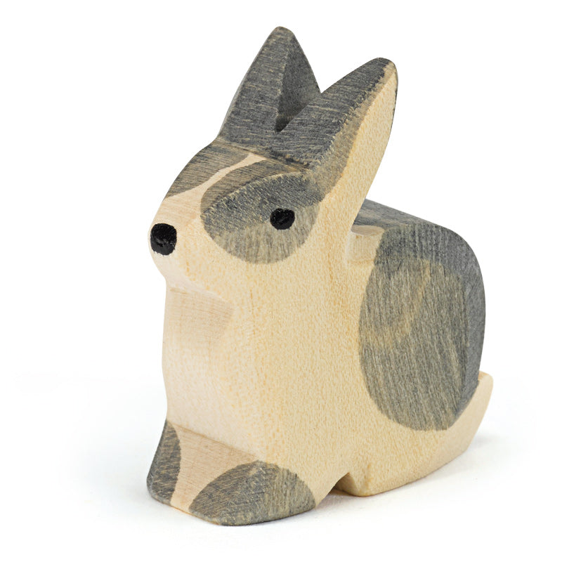 Ostheimer wooden rabbit black and white sitting