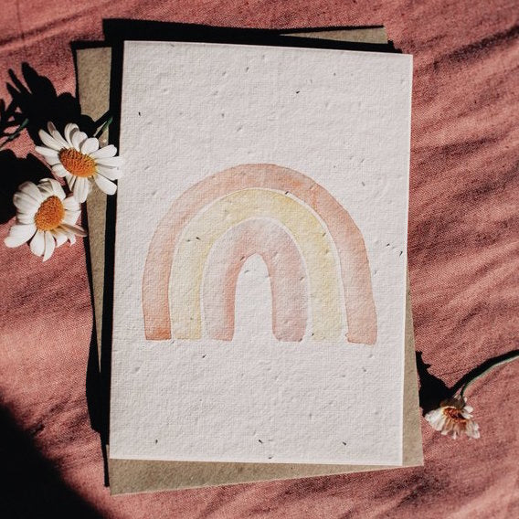 Mama and Daisy plantable greeting card - Rainbow