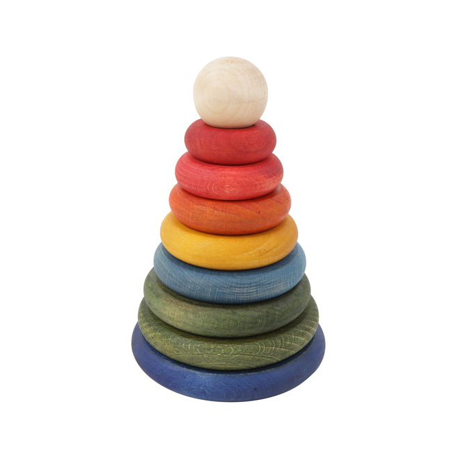 Wooden Story rainbow round stacker - stacking toy for kids
