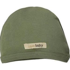 L'oved Baby organic cotton cute cap in sage green