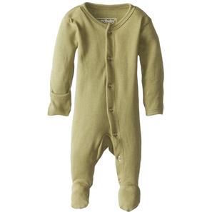 Loved Baby Organic Cotton Footed Overall in sage green