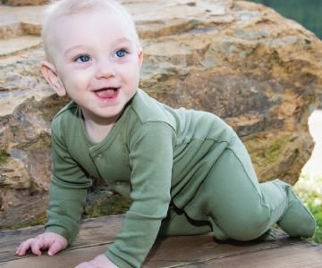 Organic Cotton Footed Overall - Sage