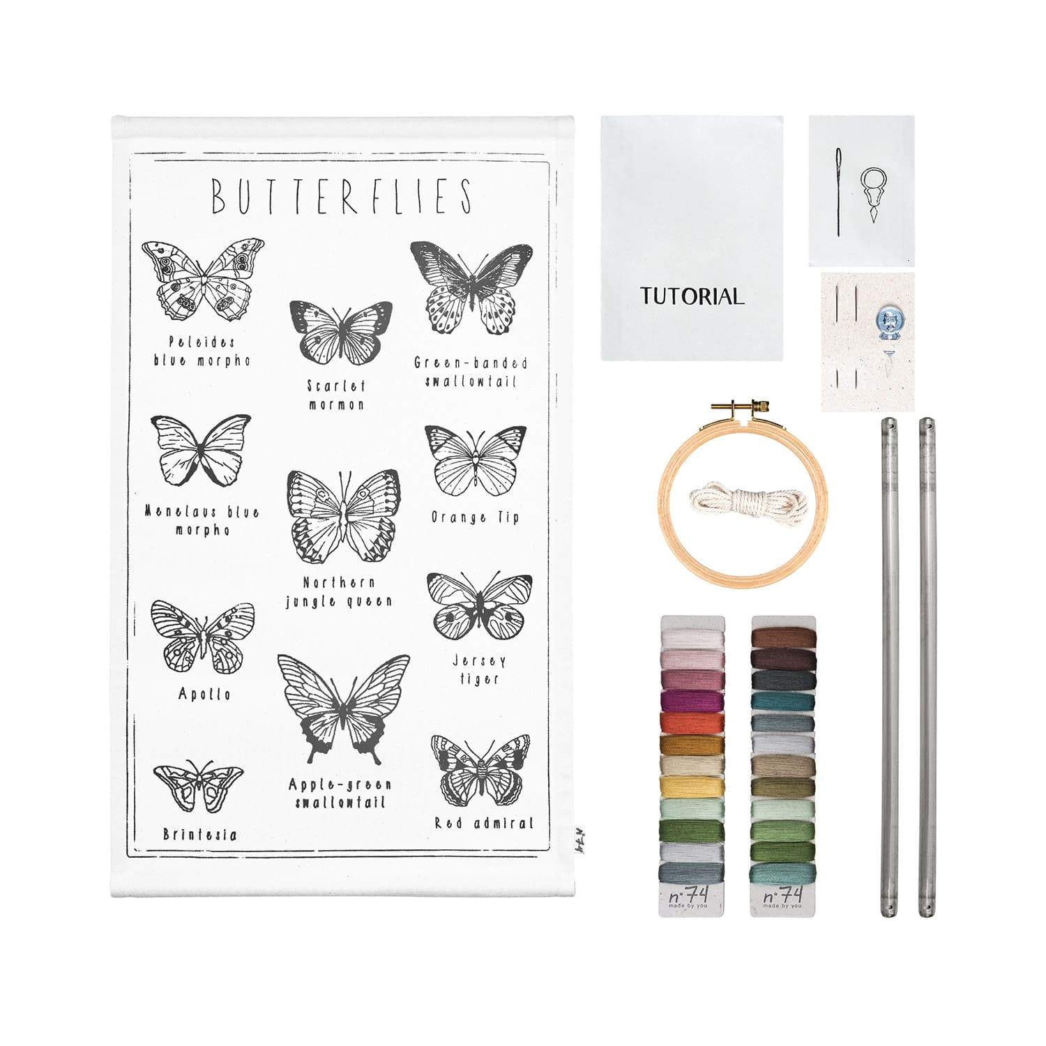 Numero 74 School Poster Kit - Butterflies