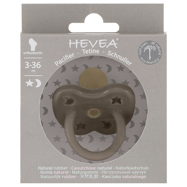 Packaging for Hevea natural rubber colour pacifier - shiitake grey