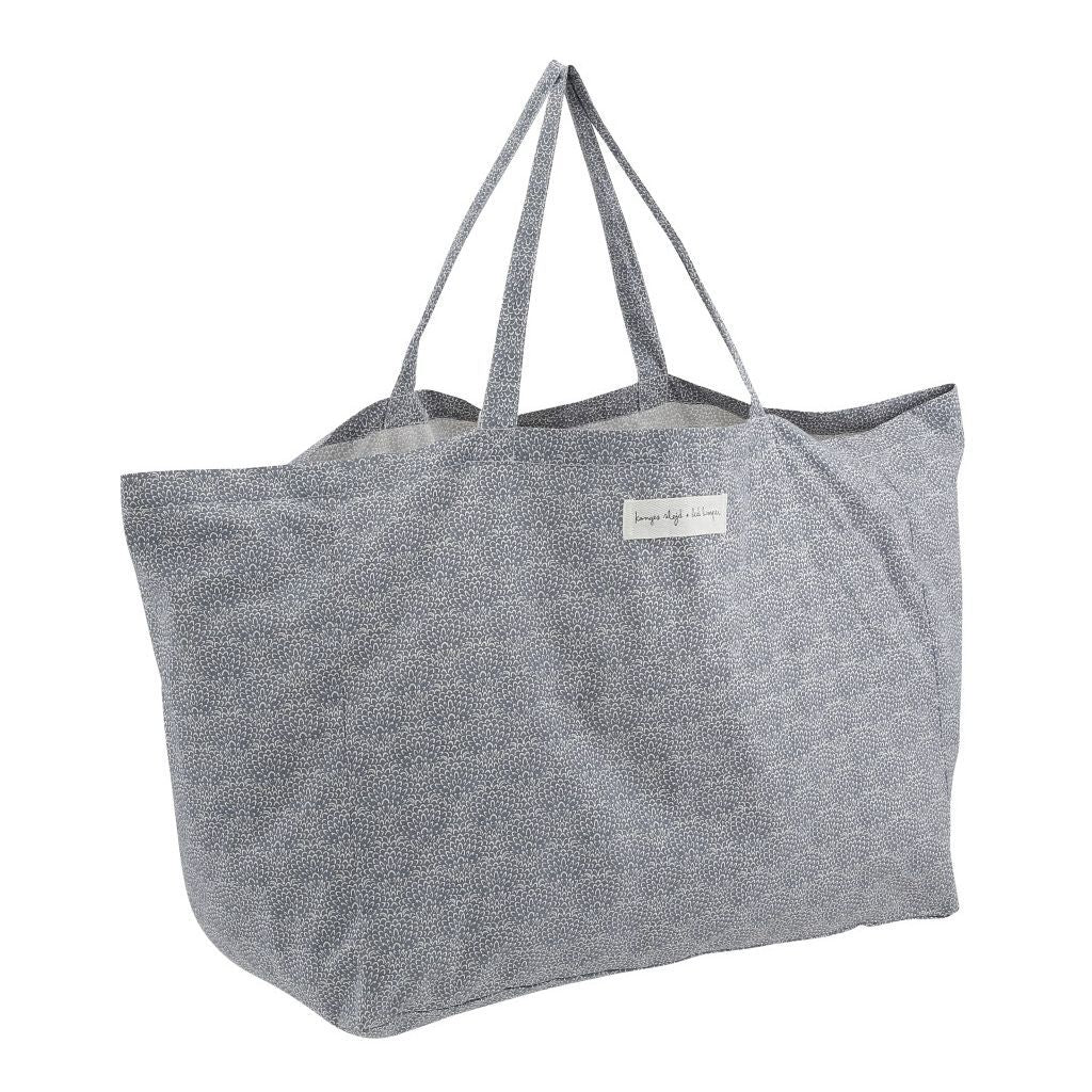 Konges Sløjd organic cotton shopping bag - granite blue