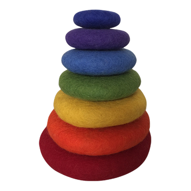 Papoose felt rainbow stacking set