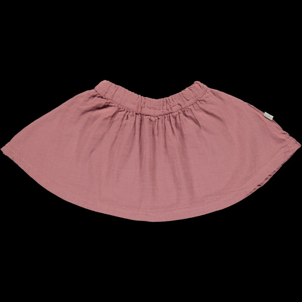 Poudre Organic - cotton double gauze muslin skirt in light mahogany