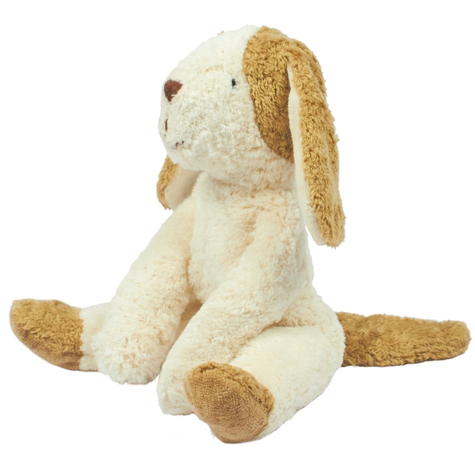 Senger Naturwelt organic cotton stuffed toy - dog in white and beige