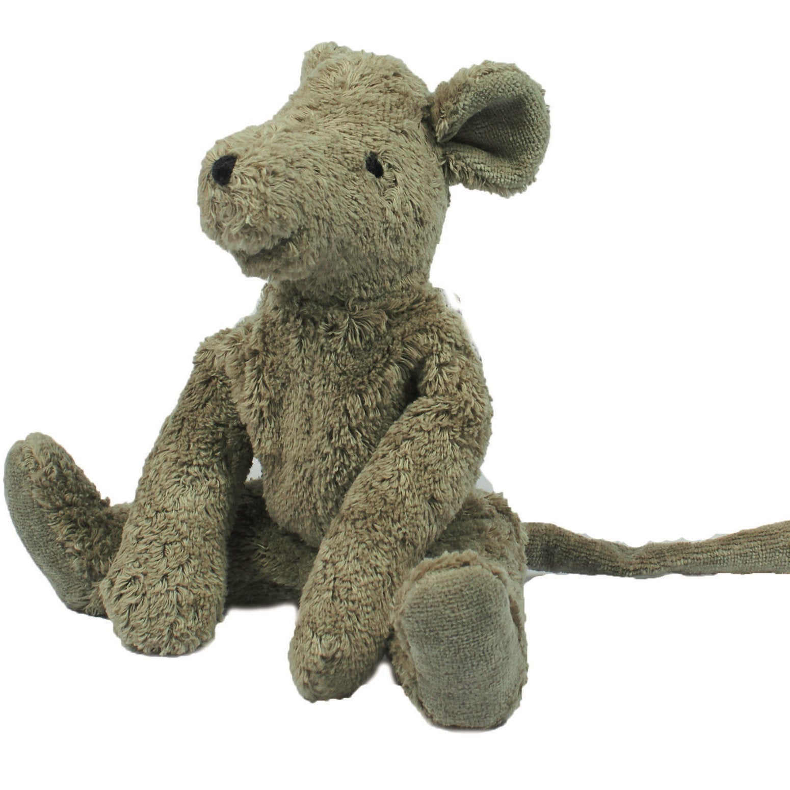Senger organic cotton stuffed toy mouse in grey