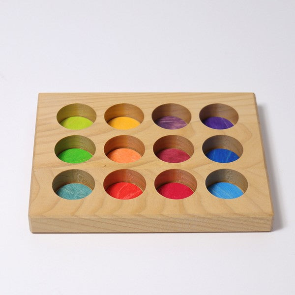 Grimm's wooden sorting board rainbow