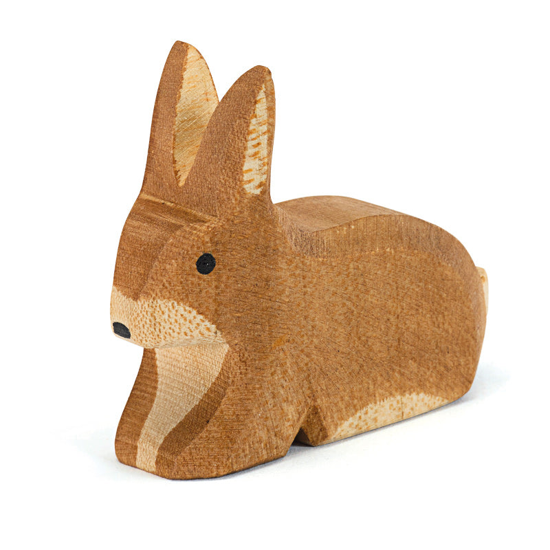 Ostheimer wooden spotted rabbit sitting