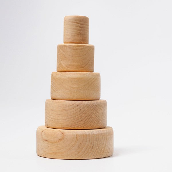 Grimm's wooden stacking bowls natural