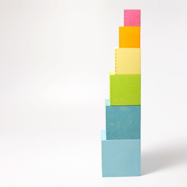 Grimm's large pastel stacking boxes