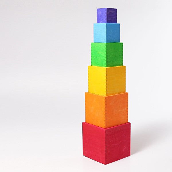 Grimm's large stacking boxes - coloured