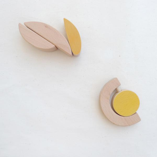 The Wandering Workshop wooden sun rattle teether