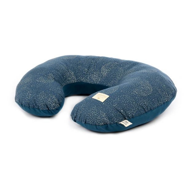 Nobodinoz Sunrise Nursing Pillow Gold Bubble/Night Blue