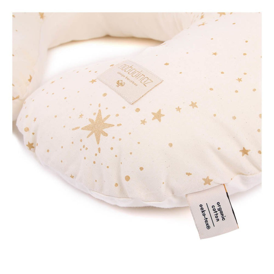 Nobodinoz Sunrise Nursing Pillow Gold Stella/Natural