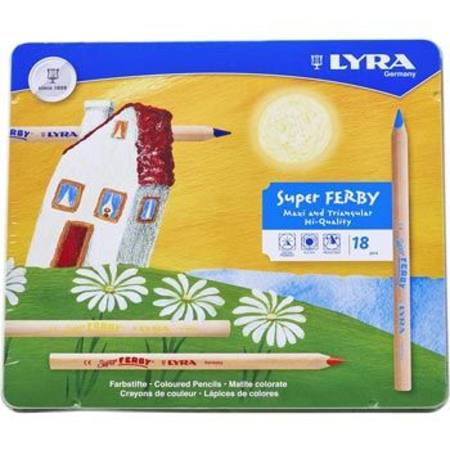 Lyra Super Ferby Pencils - 18 in Tin