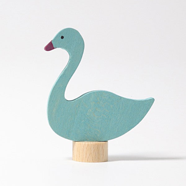 Grimm's wooden swan decoration