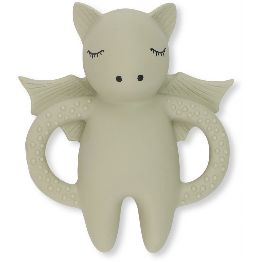 Konges Sloejd natural rubber teeth soother - bat in light grey