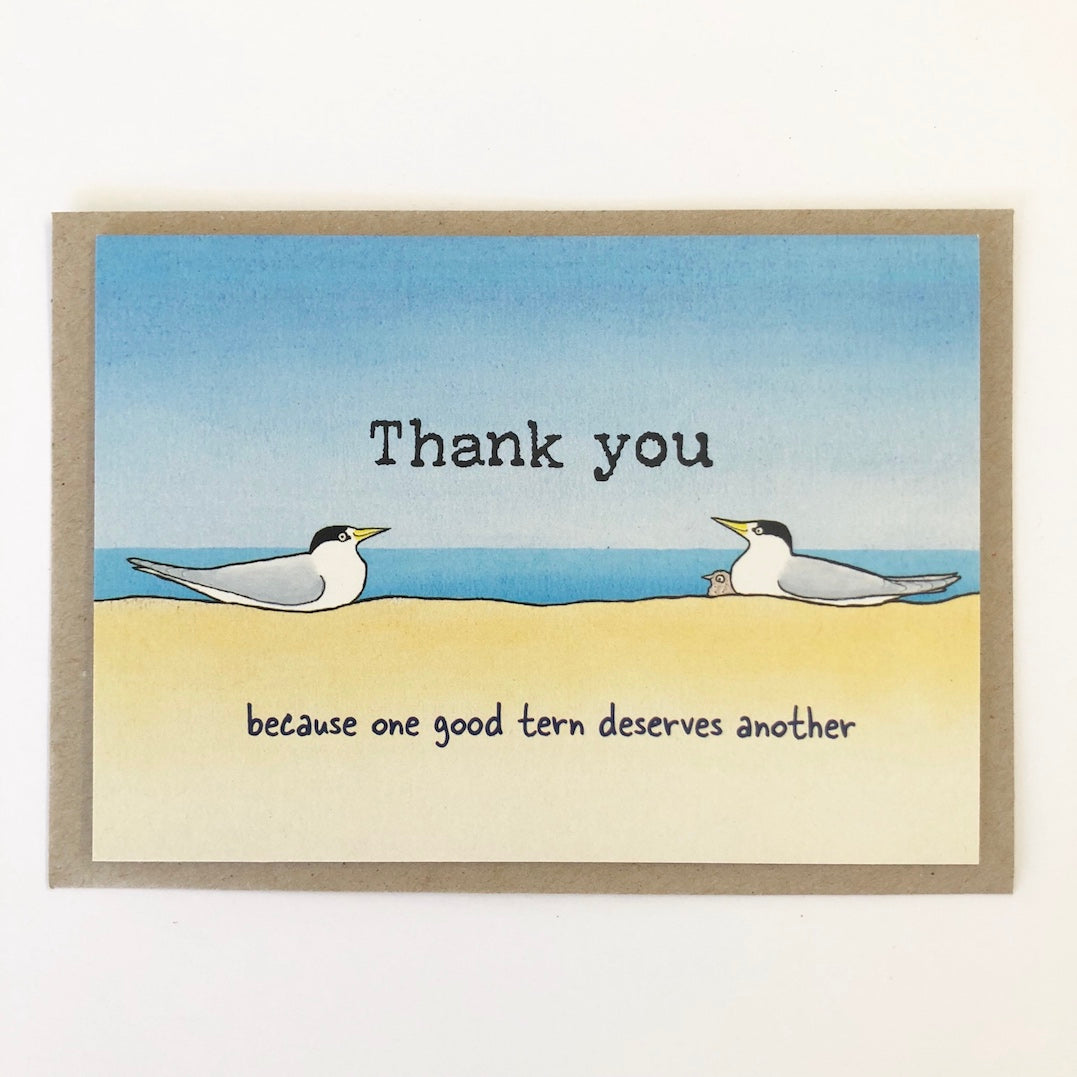 Greeting Card - Thank You Terns