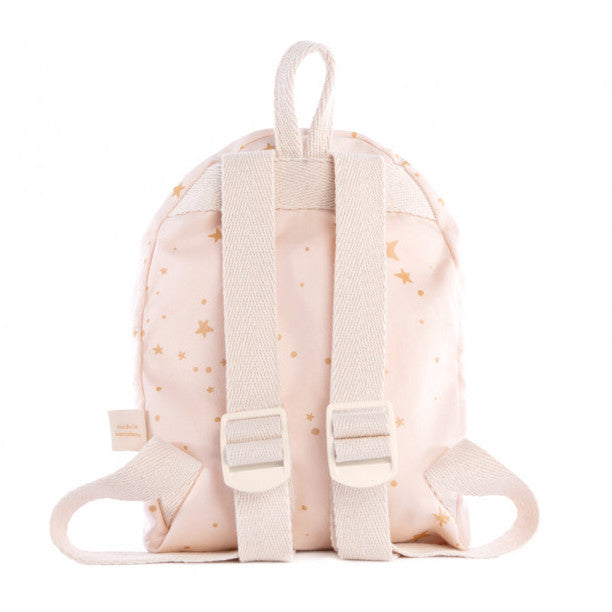 Back of Nobodinoz Too Cool Mini Backpack Gold Stella Dream Pink