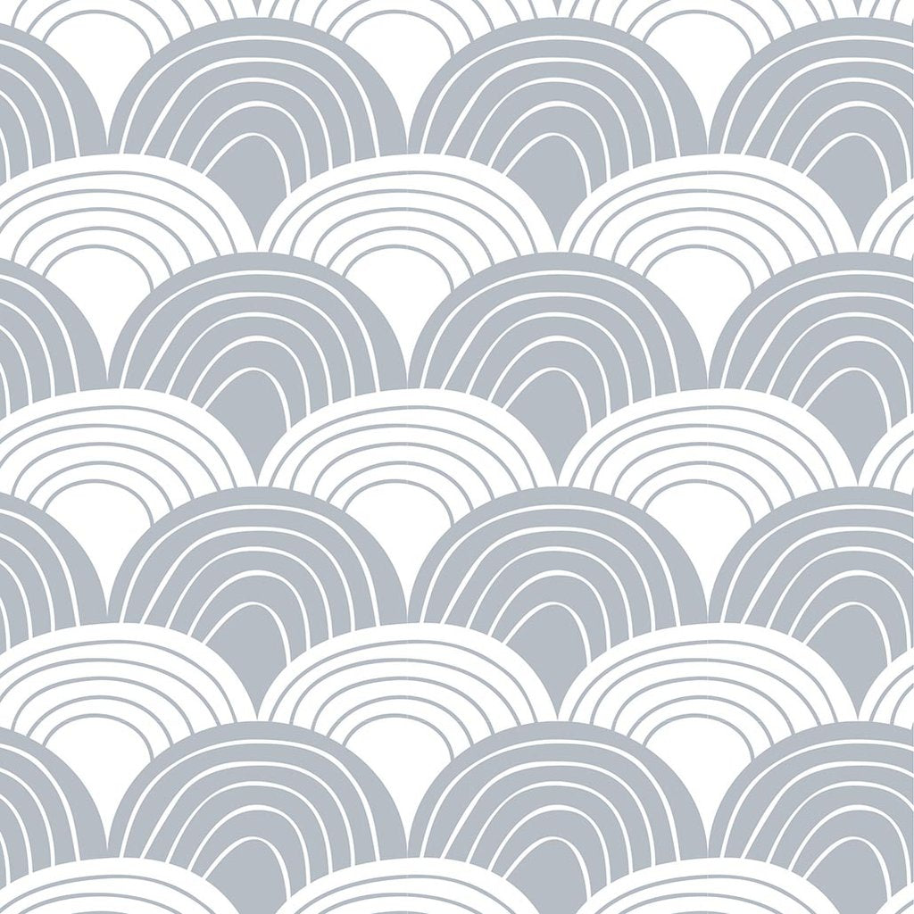 Swedish Linens Rainbows organic cotton sheet in Tranquil Gray