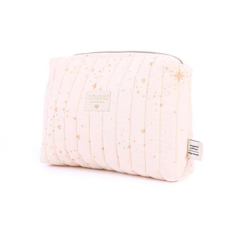Nobodinoz Travel Vanity Case - Gold Stella/Dream Pink