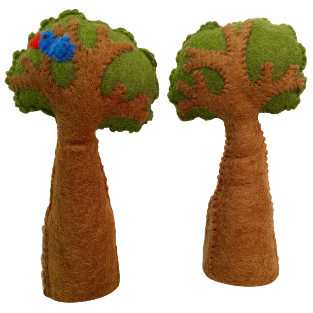 Papoose Felt Tree with Bird